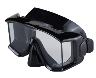 Genesis Tri View Mask Black Silicone